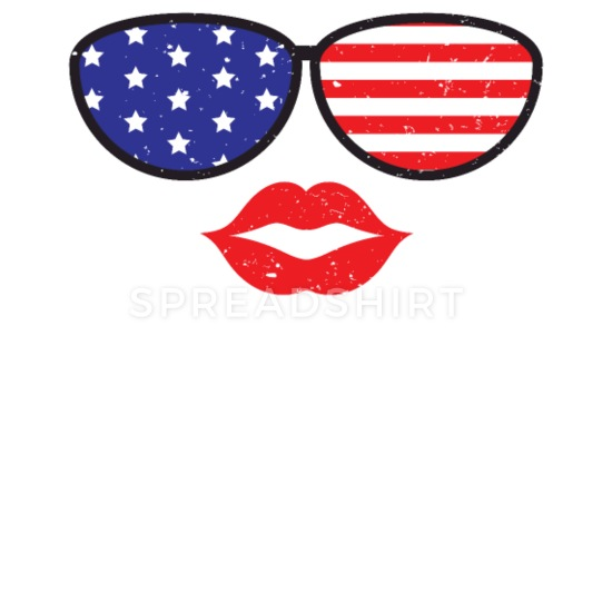 American Flag Sunglasses iPhone X/XS Case.