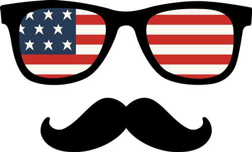 Sunglasses clipart american flag, Sunglasses american flag.