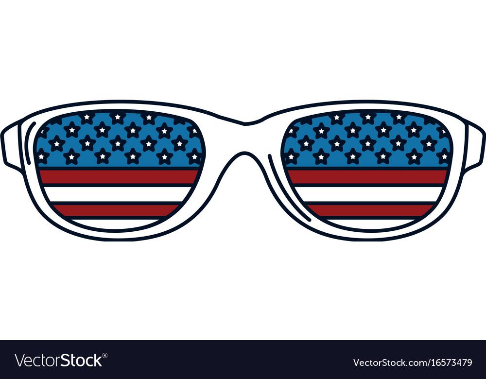 Sunglasses with usa flag.