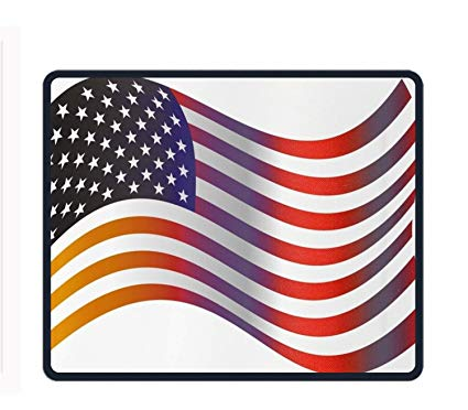 Amazon.com : American Flag Clip Art Mouse Pad Non.