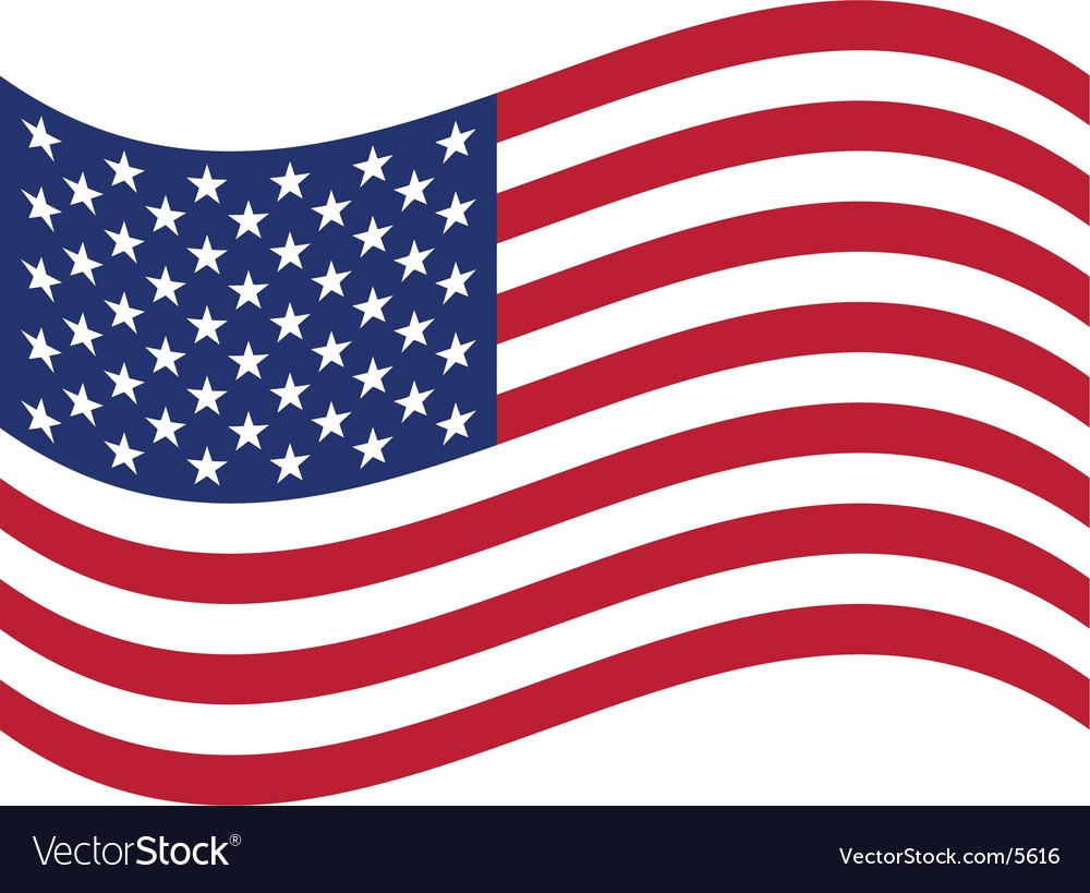 American Flag Vector Clipart.