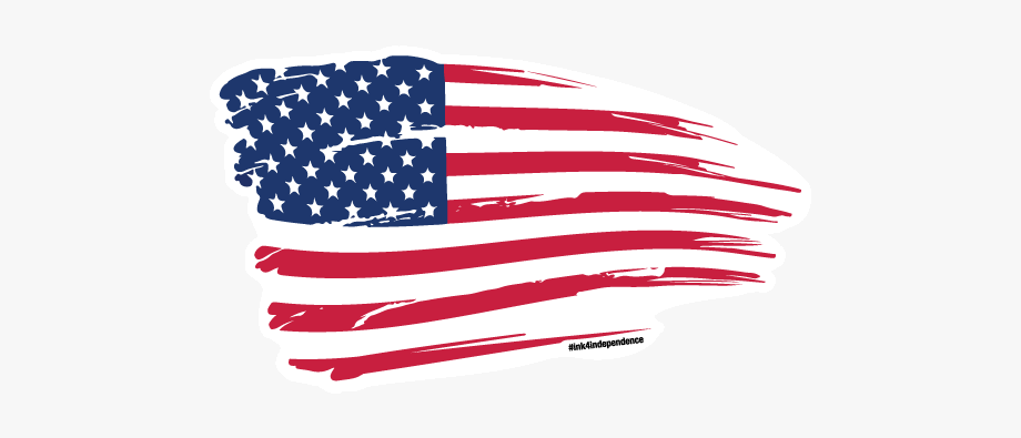 American Flag Graphic Decal.