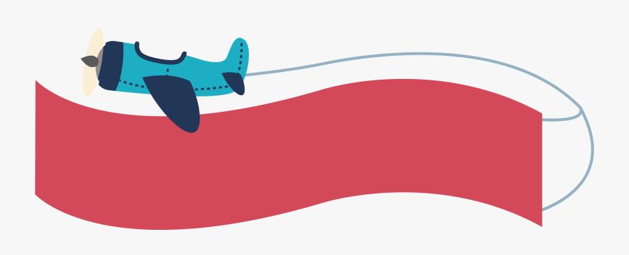 Clip Art Plane Banner Clipart.