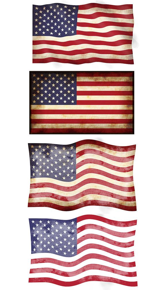 Vintage american flag clipart 4 » Clipart Station.