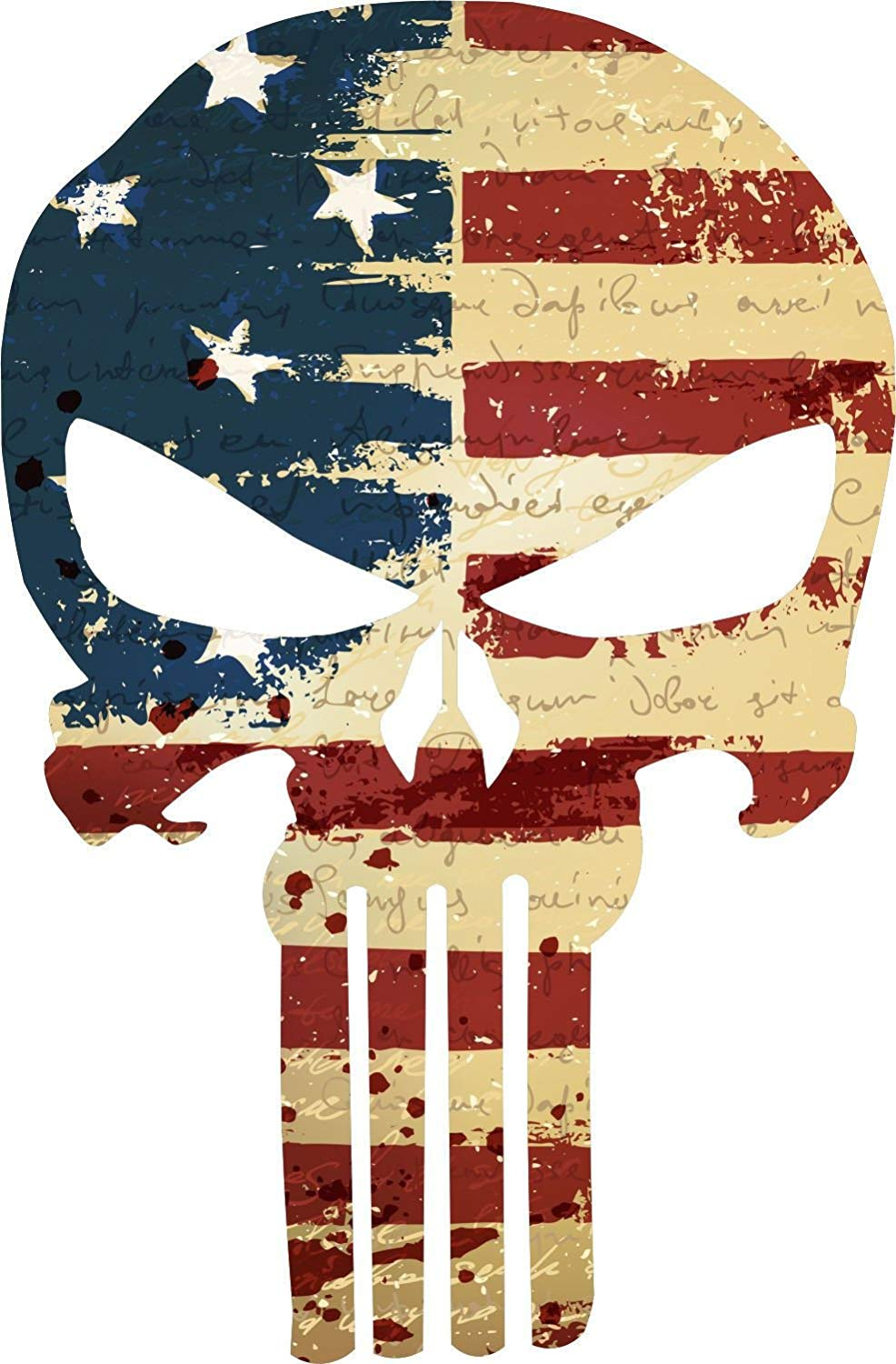 Amazon.com: MAGNET Punisher Skull Vintage American Flag.
