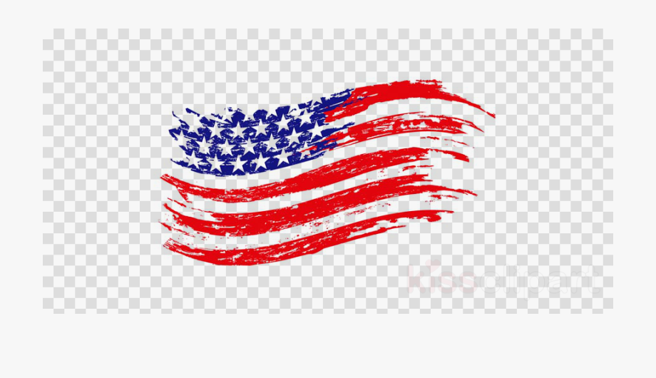 American Flag Vintage Vector Clipart United States.