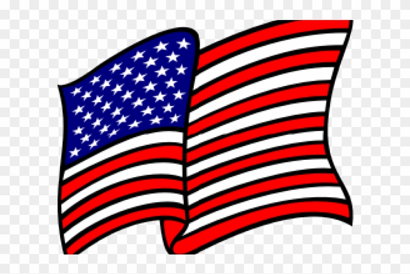 Drawn American Flag Flag Waving.