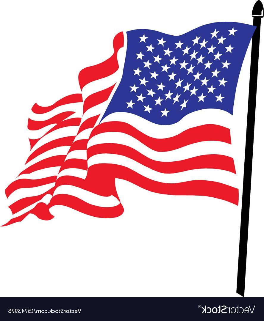 HD American Flag Waving Clip Art Image » Free Vector Art, Images.