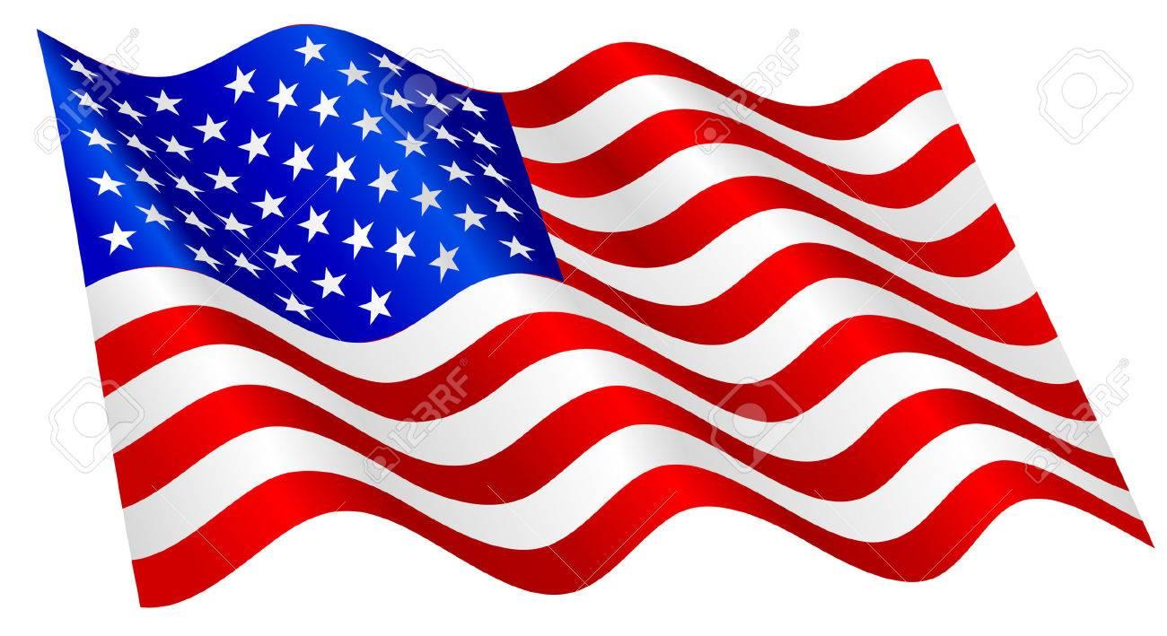 American flag waving..