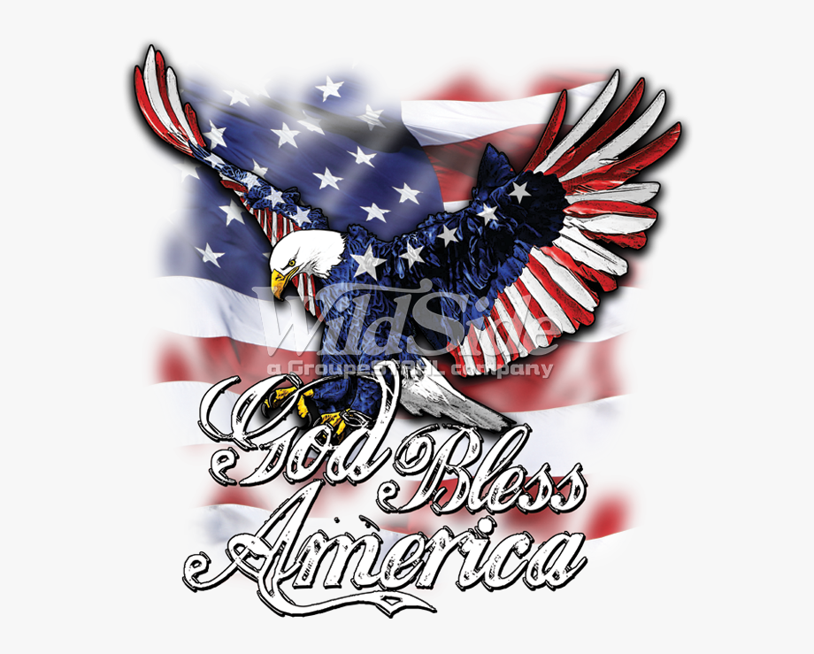 Clip Art Eagle With Flag Wings.