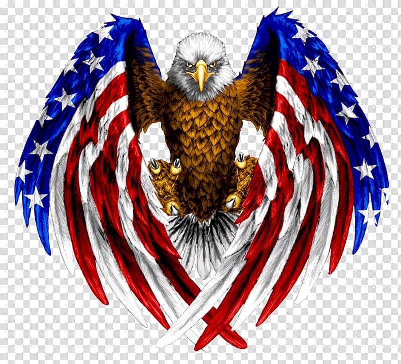 Bald eagle Flag of the United States Tattoo, american.