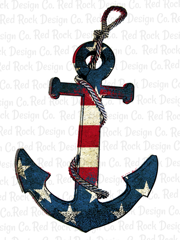 American Flag Anchor.