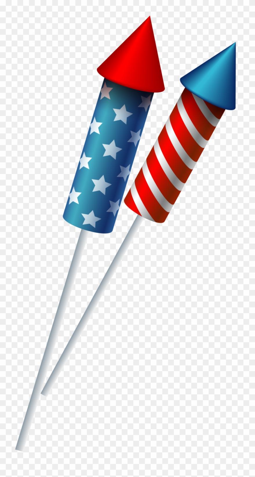 Firework Clipart Rocket Flag.