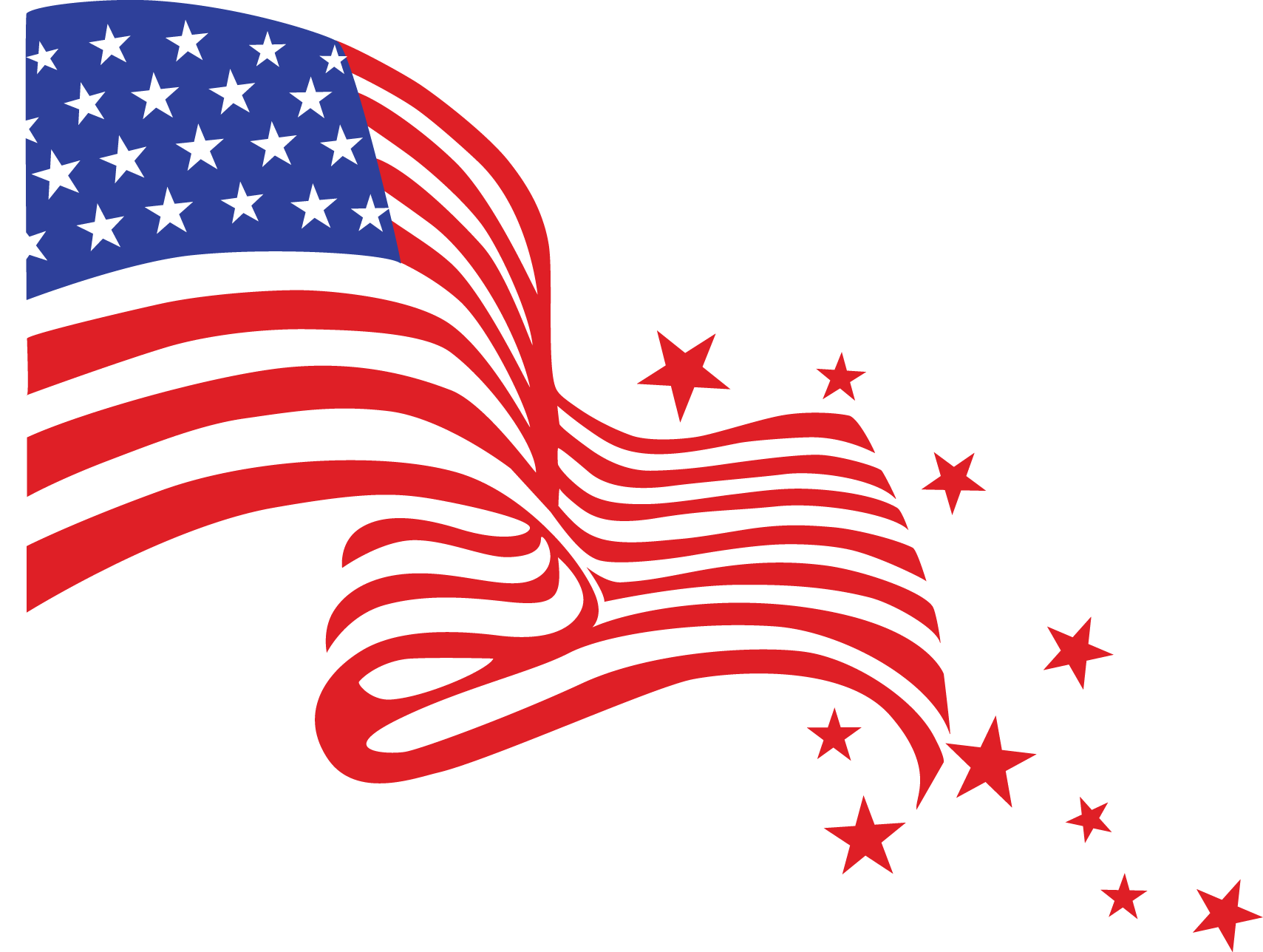 American flag and fireworks clipart » Clipart Portal.