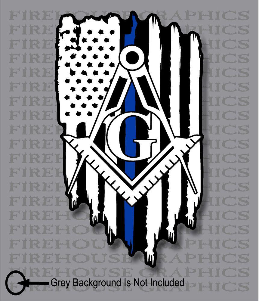 Sponsored eBay) Thin Blue Line Police Masons masonic.
