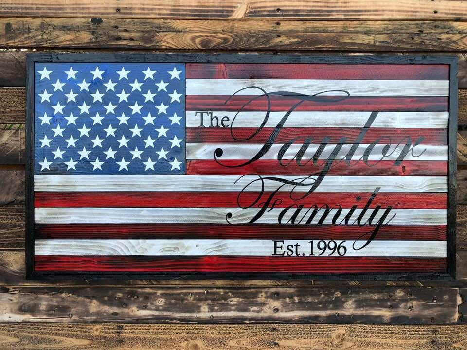 Patriotic Family Flag.
