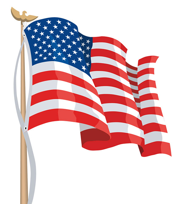 Image american flags clip art clipartcow.