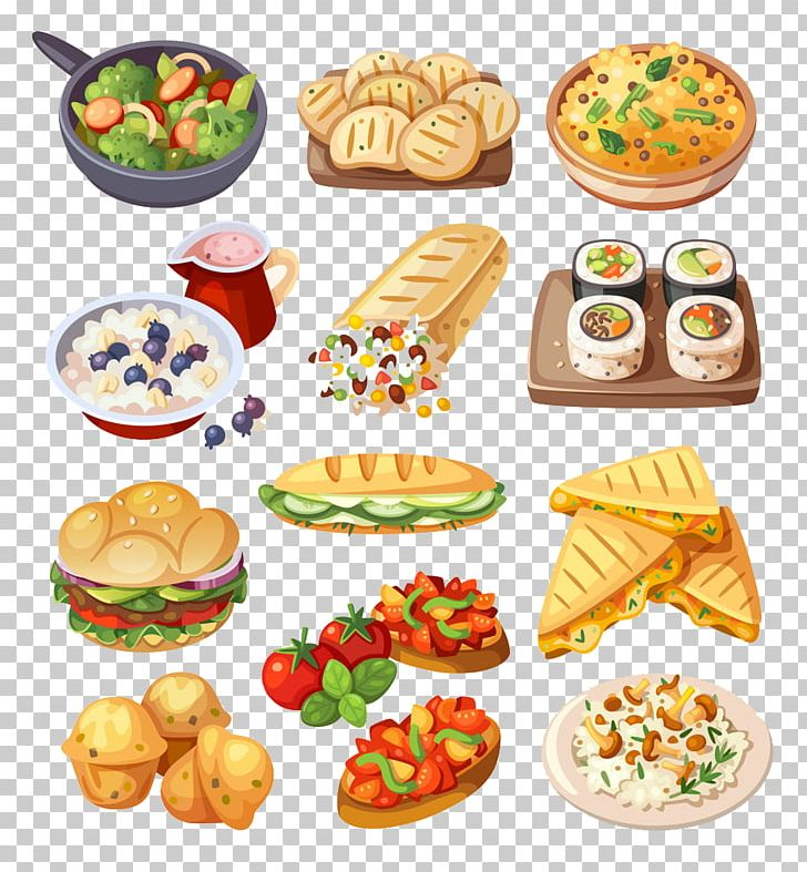 Fast Food Hamburger Sushi Illustration PNG, Clipart.