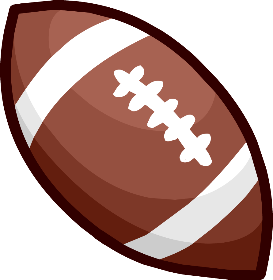 American Football Ball Clipart PNG Image.