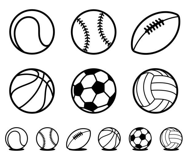 Best American Football Ball Illustrations, Royalty.