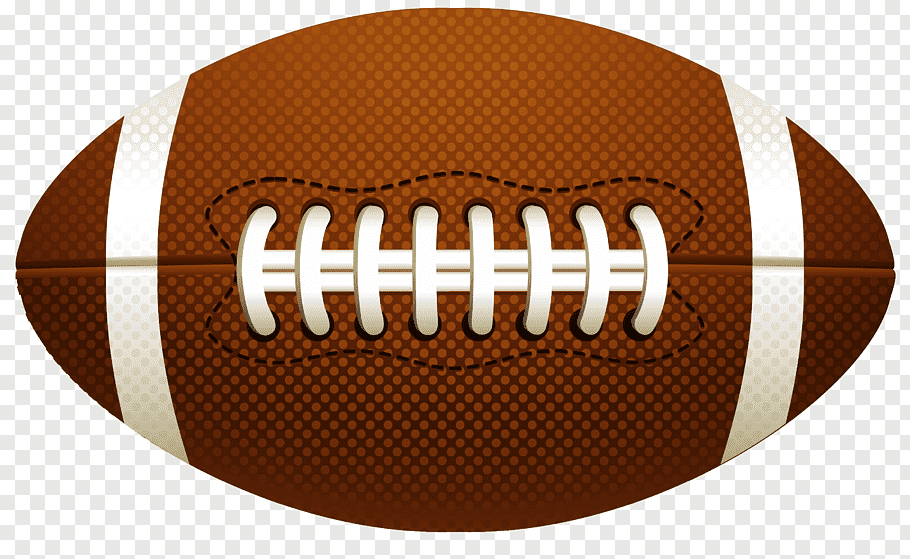 American Football Ball, brown and white football free png.