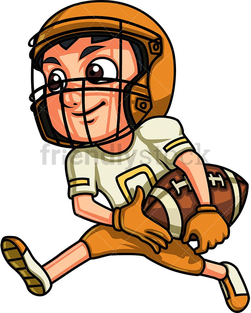 Boy Playing American Football.