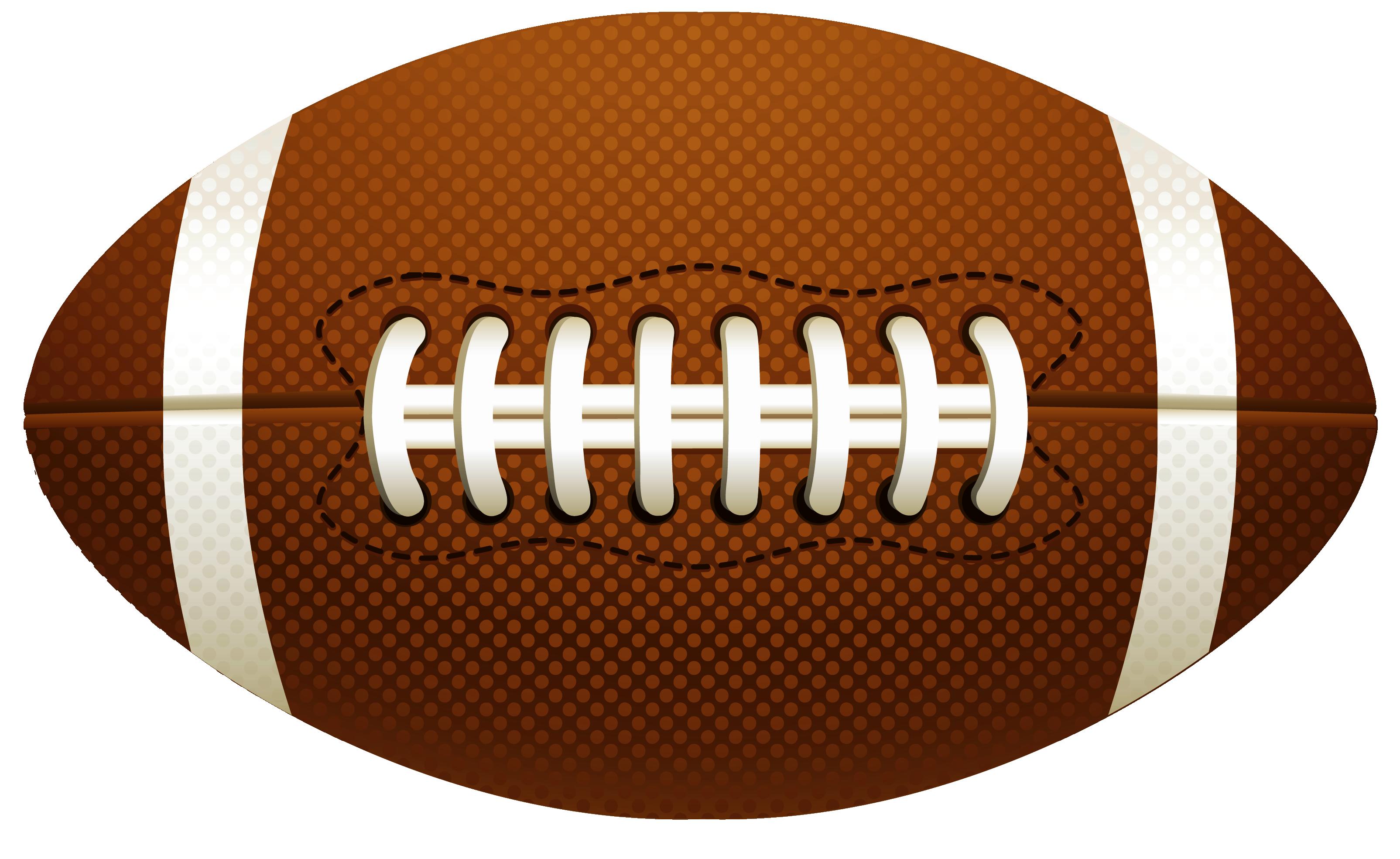 American Football Ball PNG Vector Clipart.