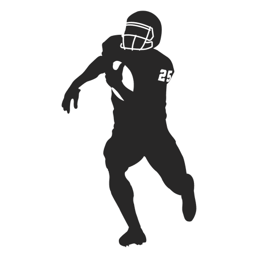 American football Rugby Silhouette.