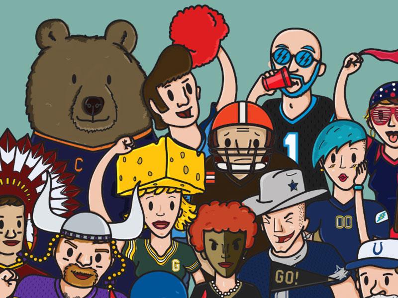 NFL Fans by Dany Herrera on Dribbble.