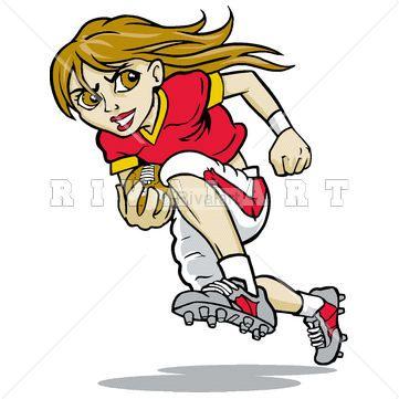 Girl Football Player Clipart.