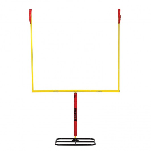 Authentic Steel Football Goal Post 8.5\' x 5.5\'.