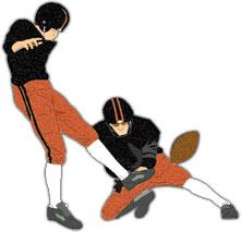 Kicking A Field Goal Clipart.