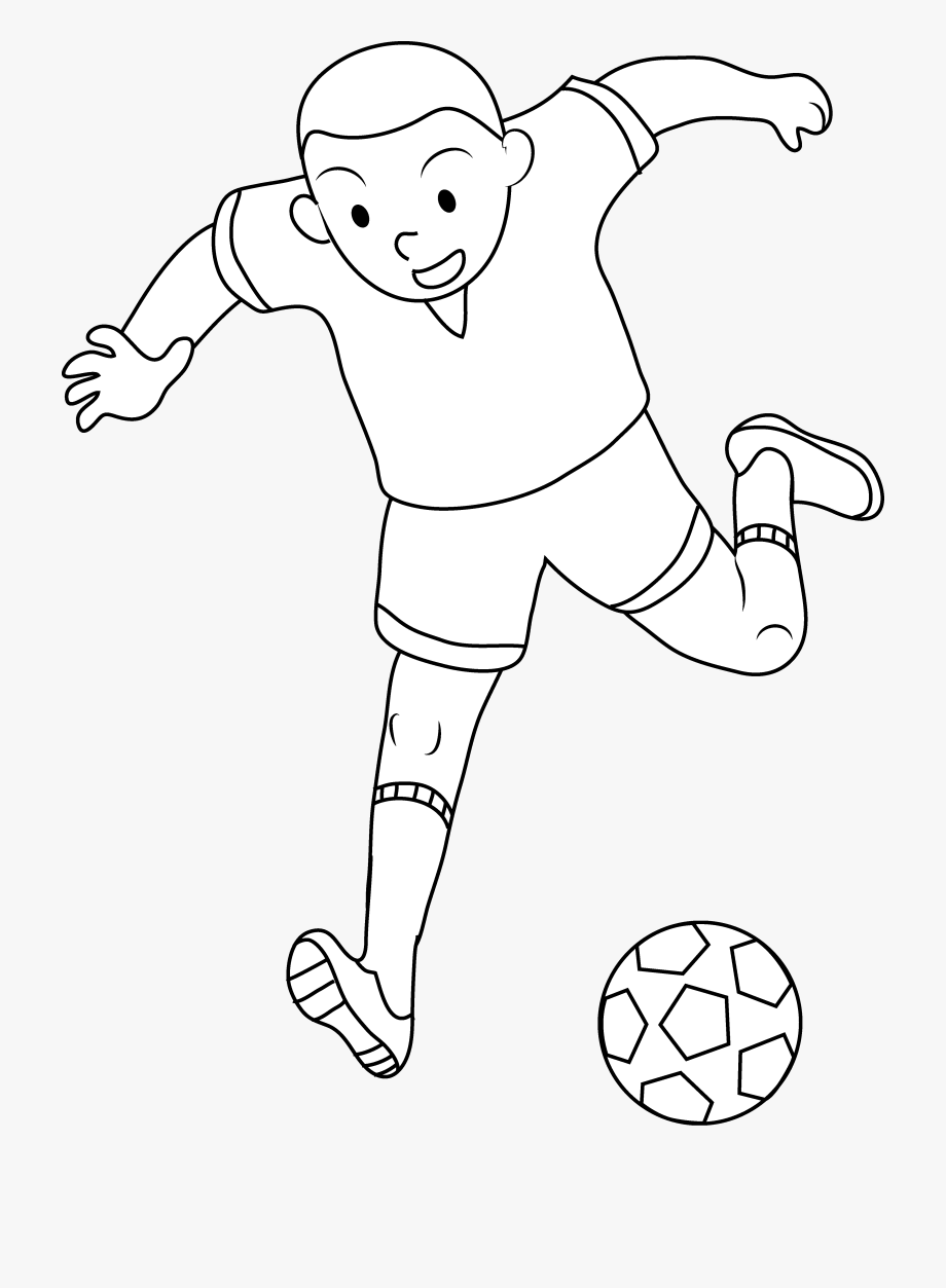 Color Clipart Football Player.