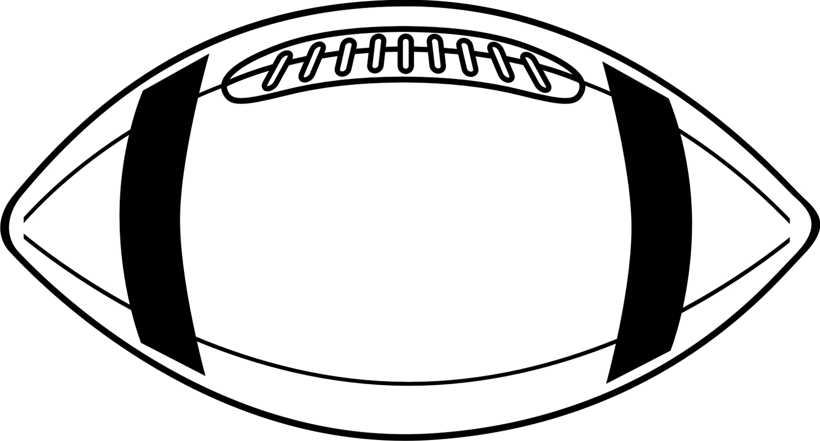 Football Laces Clipart Black And White.