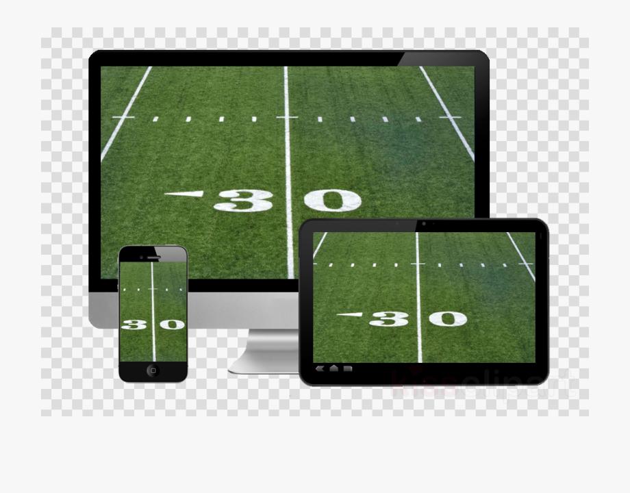 American Football Field Clipart.
