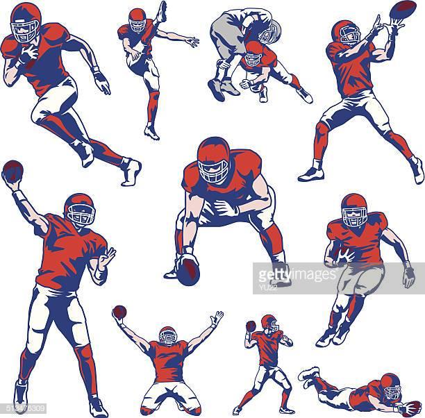 60 Top American Football Player Stock Illustrations, Clip art.