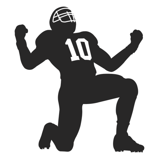 American Football Player Clipart PNG Image.