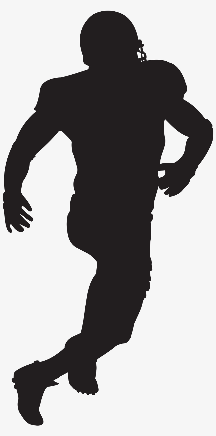 American Football Player Silhouette Clip Art Image.
