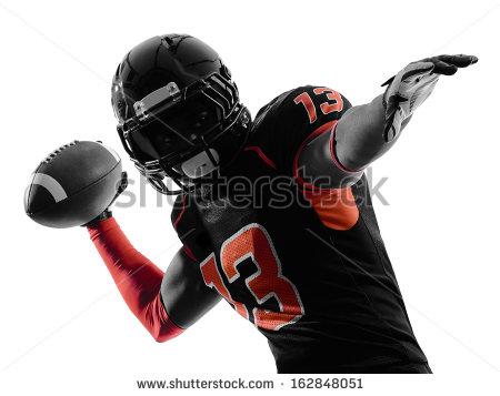 Quarterback Stock Images, Royalty.