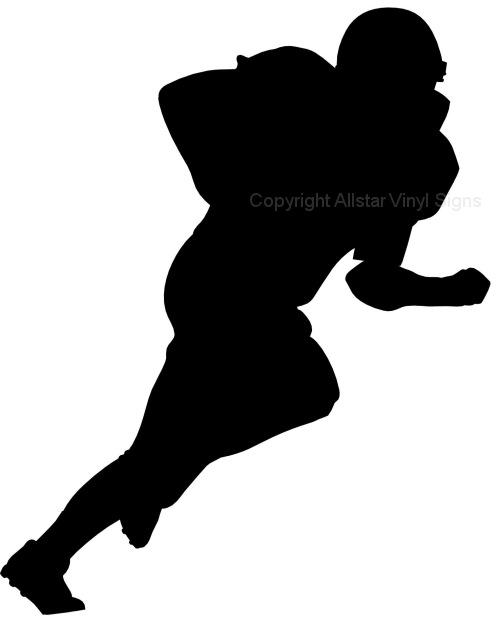 football silhouette clip art.