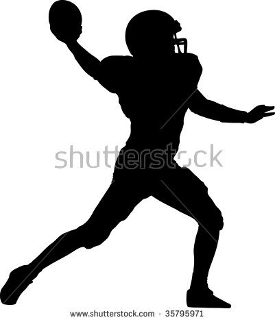 American Football Player Silhouette Stock Photos, Royalty.