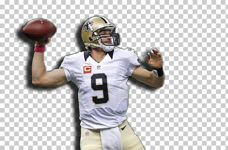 American Football Helmets New Orleans Saints Touchdown.