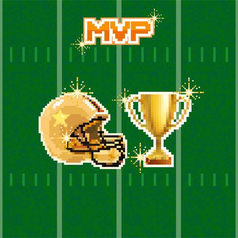 american football pixel.