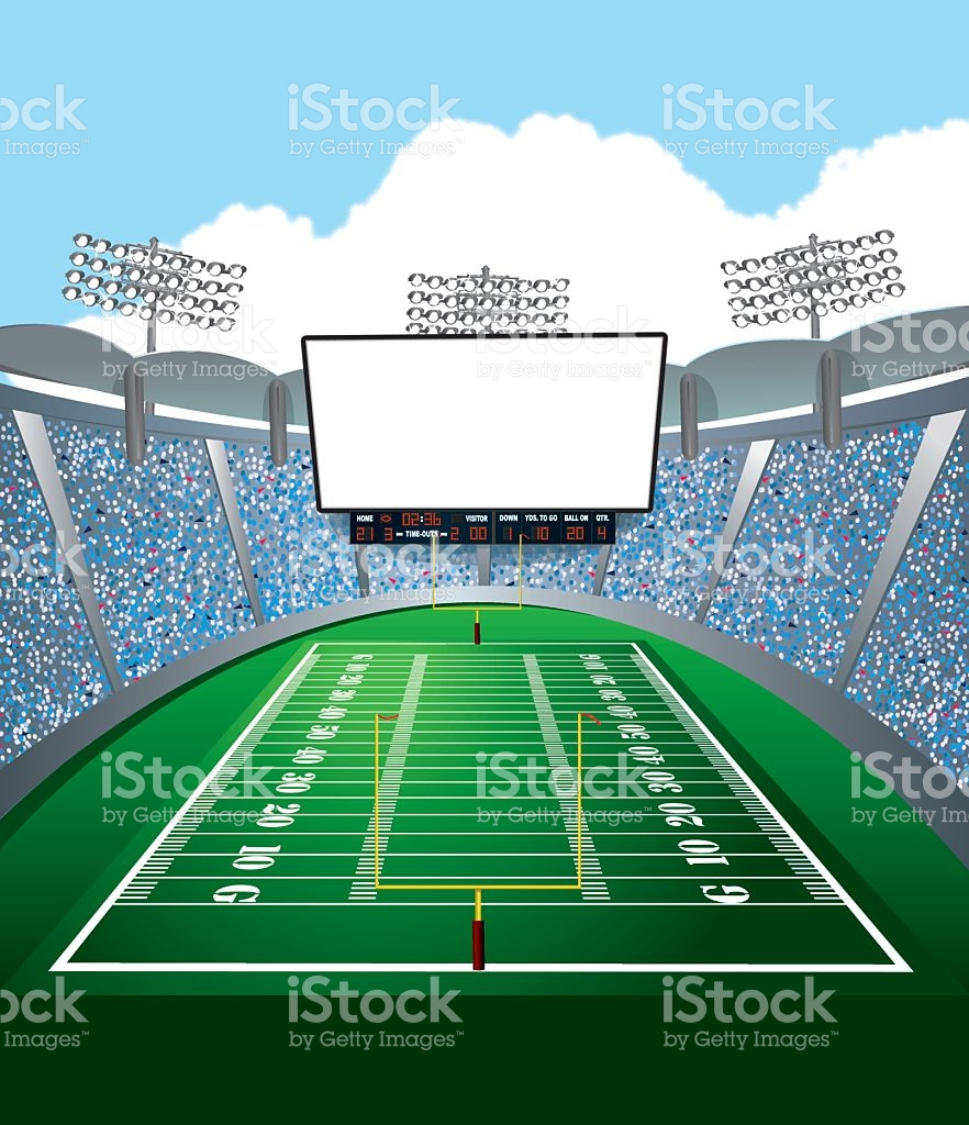 American Football Stadium Crowd Clipart.