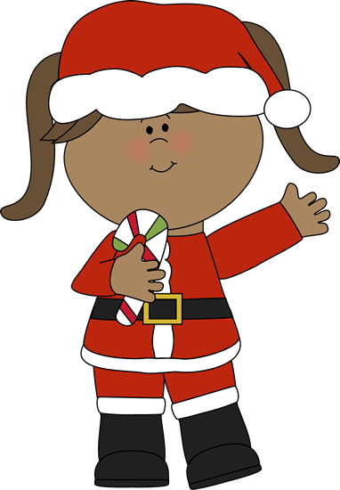 Christmas Girl Clipart.
