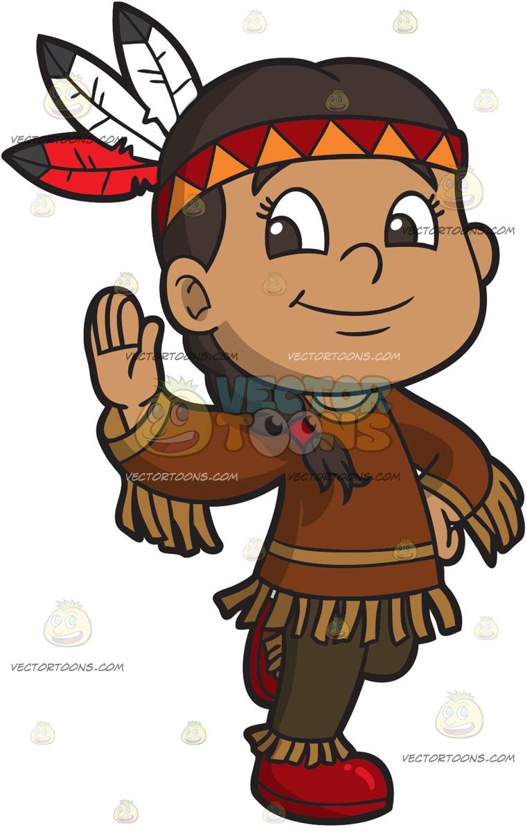 A Native American Girl.