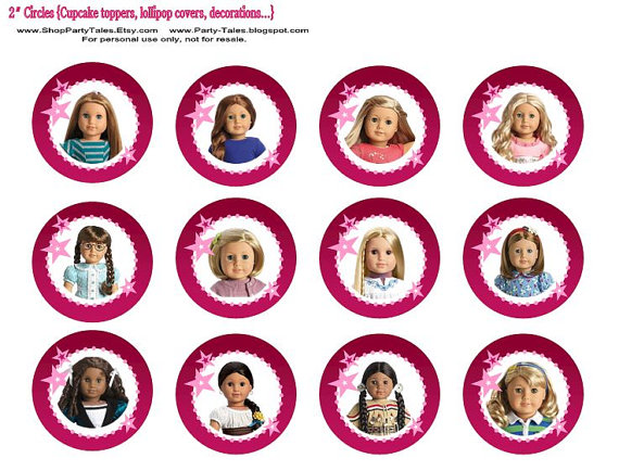 American girl doll birthday party printable INSTANT DOWNLOAD.