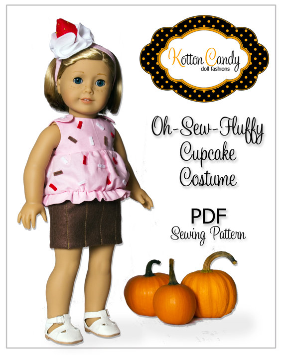 PDF Sewing Pattern for 18 Inch American Girl Doll Clothes.