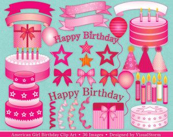 Pink Cupcake Clipart, Digital Cupcakes Clip Art, Purple Cupcake.