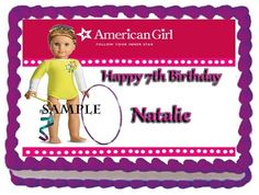 Details about AMERICAN GIRL SAIGE Birthday Party Cake Topper.
